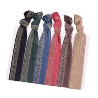 Yusen-Shiny Solid Color Elastic Hair Ties-Nylon